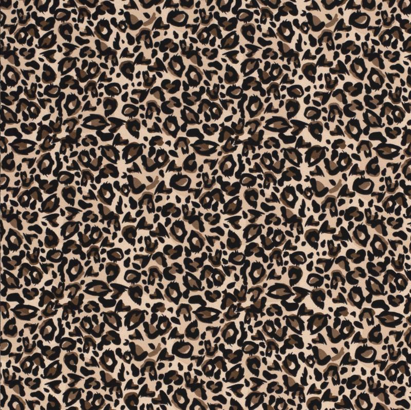 Tricot Luipaard print beige