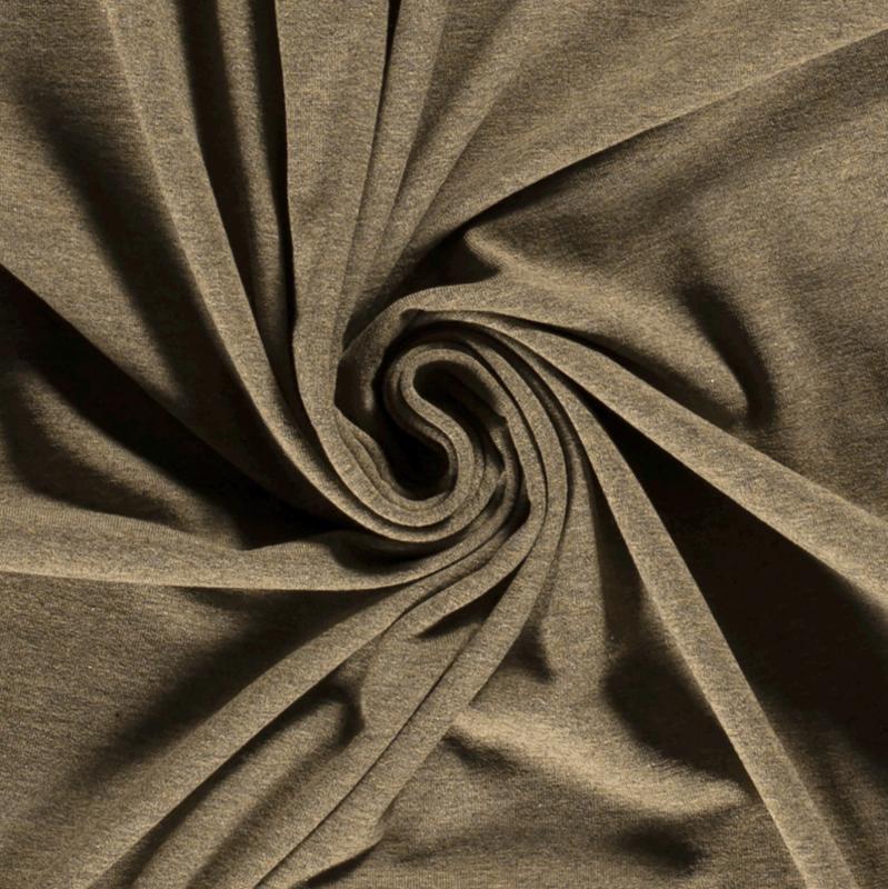 Tricot uni softtone Khaki