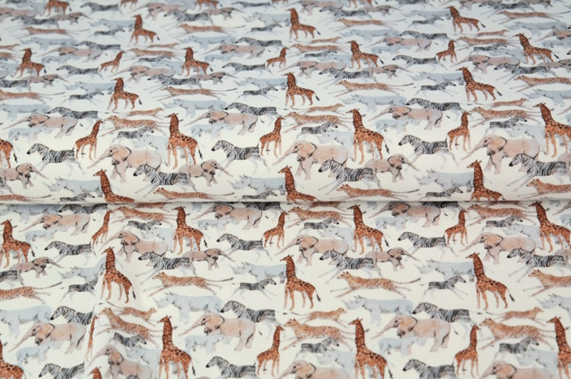 Stenzo tricot printed Safari animals