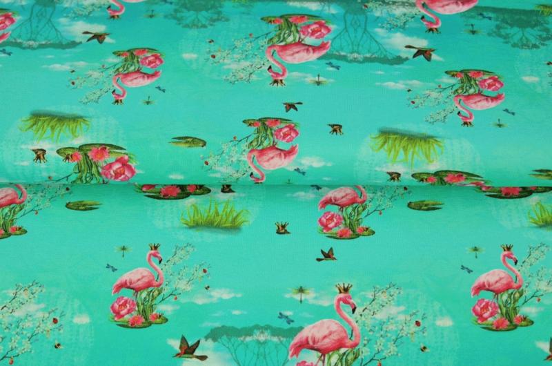 Stenzo digital tricot Pretty flamingo