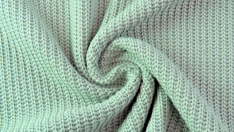 Gebreid katoen GROF mint