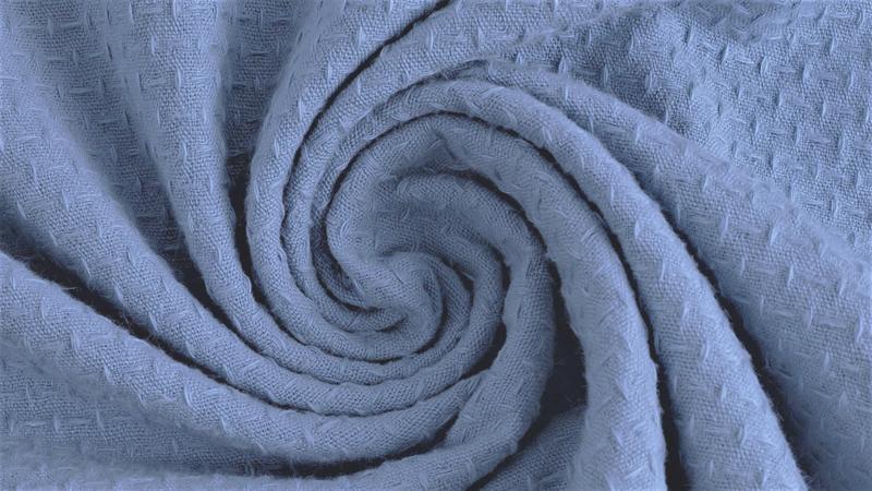 Katoen Jacquard Jeansblauw