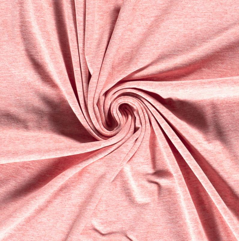 Tricot uni softtone Roze