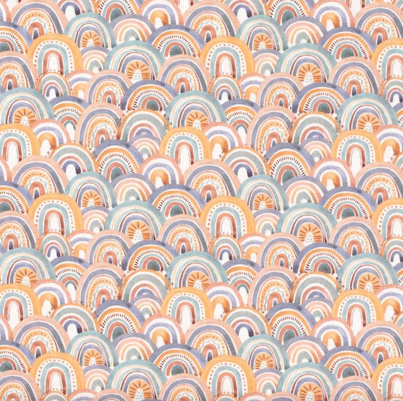 Tricot regenboog oranje boven