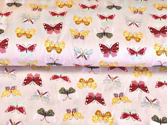 Poplin gekleurde vlinders