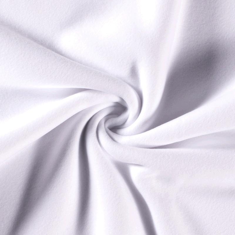 Katoenen Fleece Wit