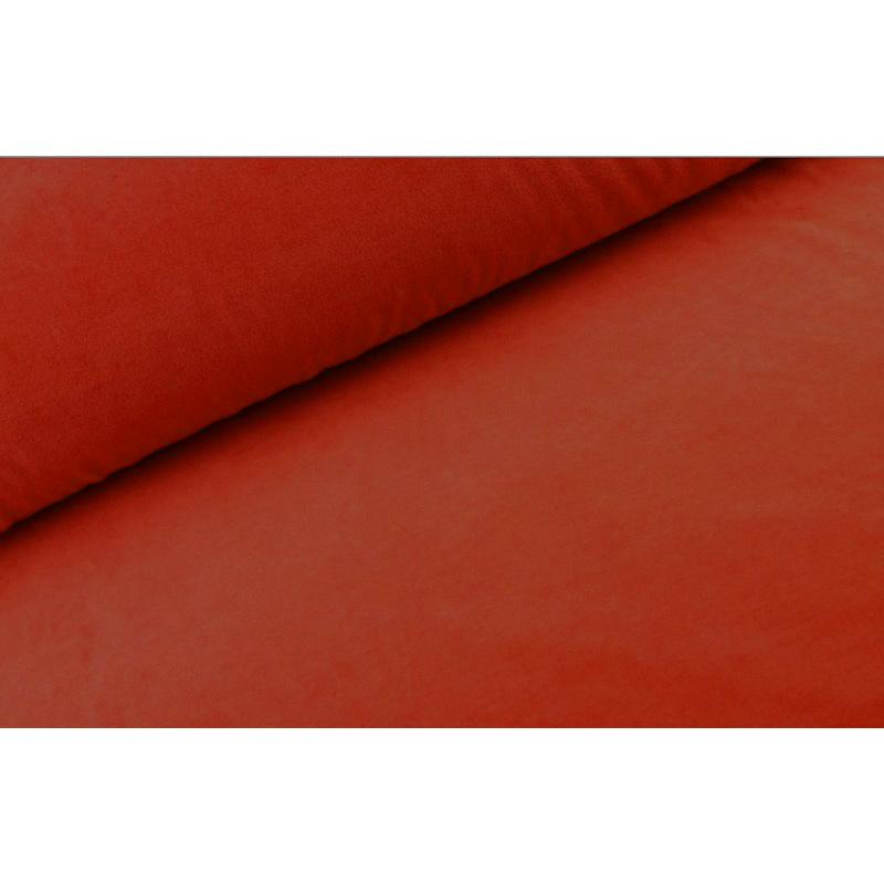 Nicky velours Terra rood