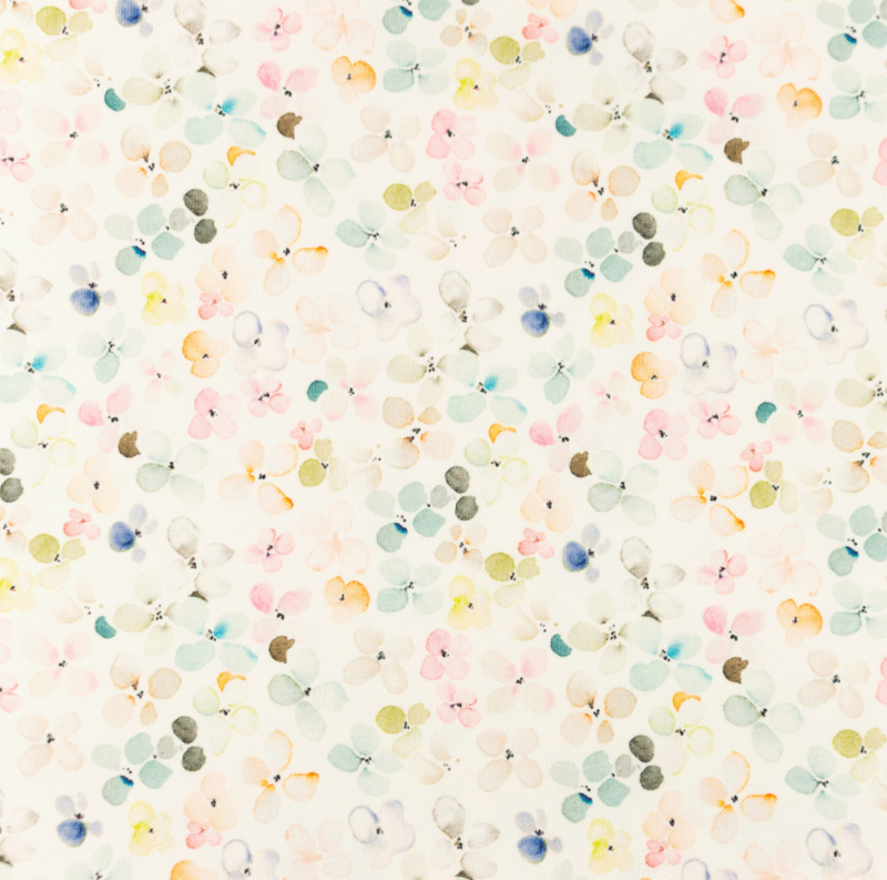 Snoozy Tricot Aqua bloem fijn