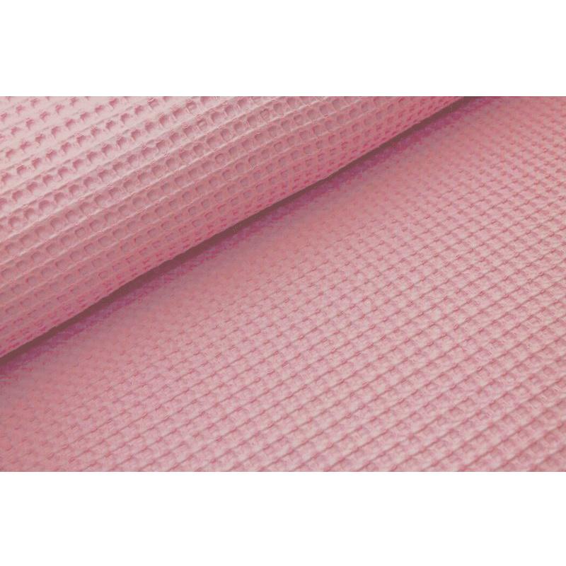 Wafel katoen GROF Baby pink