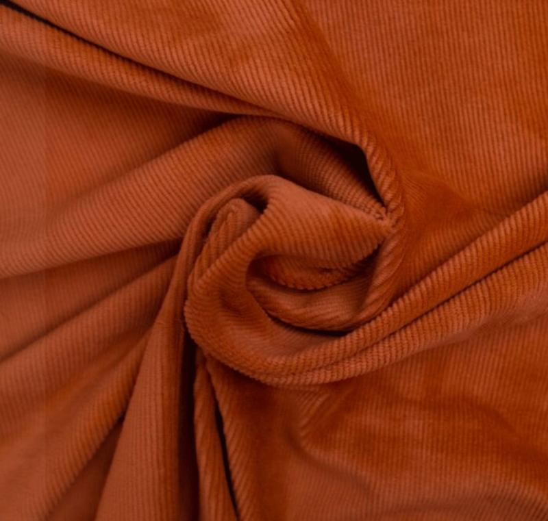 Tricot rib fijn Copper orange
