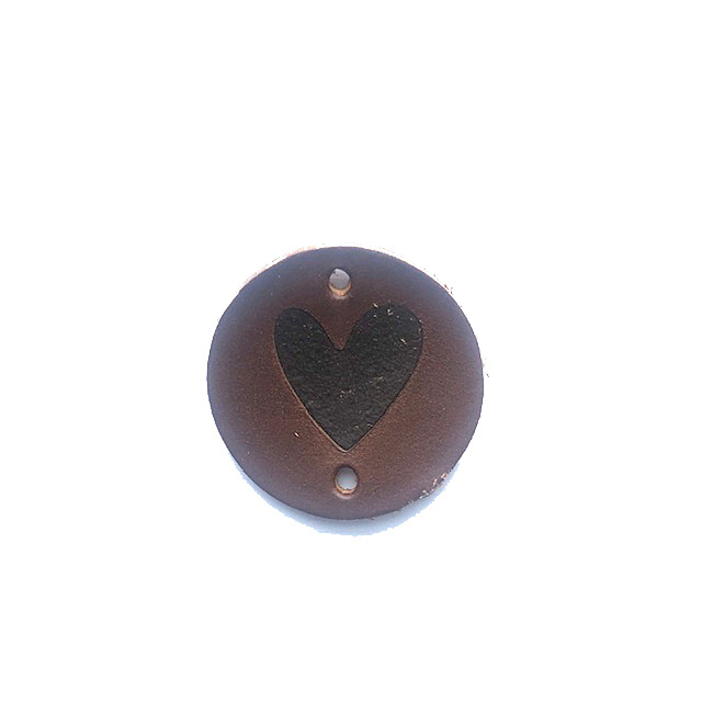 Patch leatherlook rond hartje