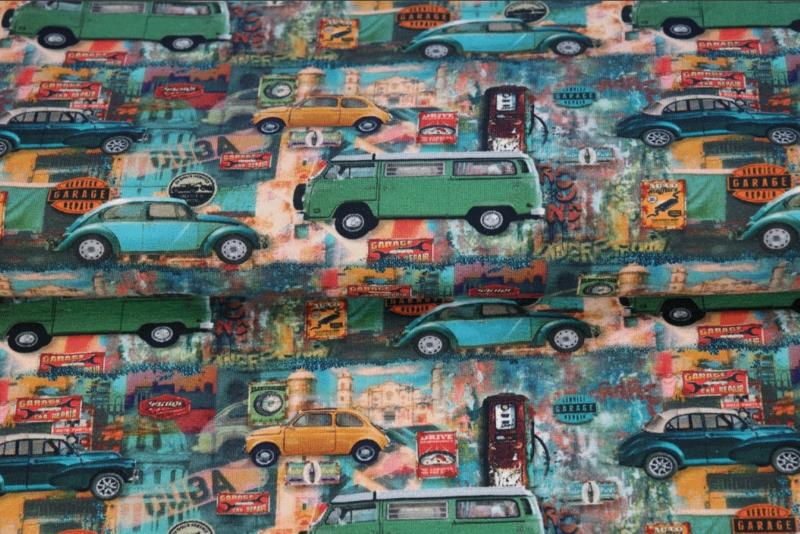Stenzo digital tricot Vintage cars