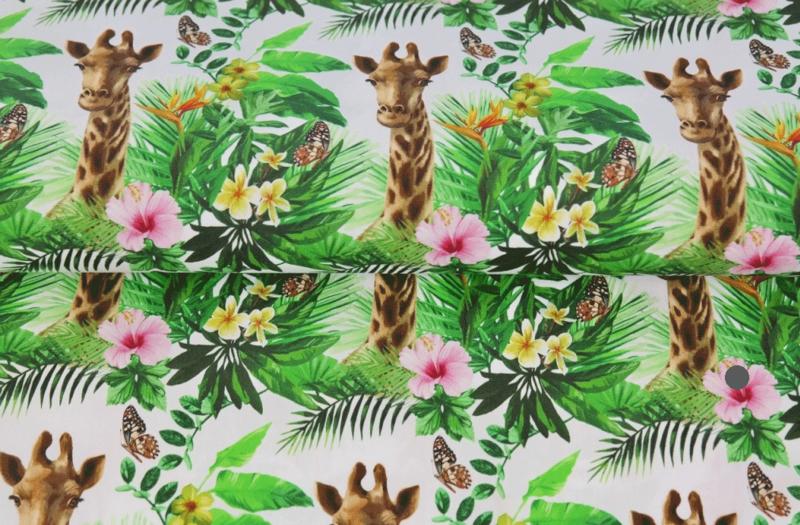 Stenzo tricot digital Giraffe & Flowers