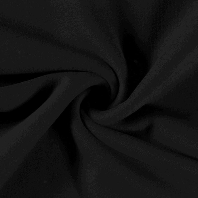 Katoenen Fleece Zwart