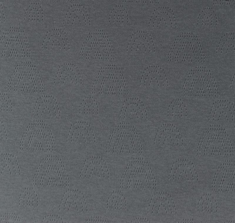Katoen Fijn gebreid Ajour  Regenboogjes grijs