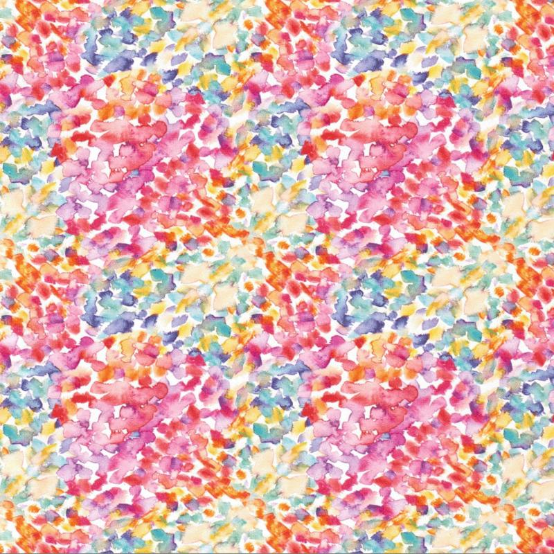 Tricot Digitaal Kleurrijke bloemen