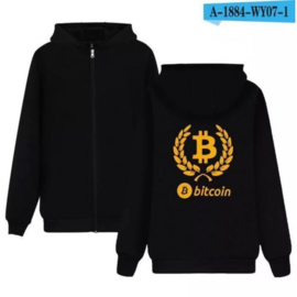 Bitcoin BTC cryptocurrency cryptocoin hoodie vest jas kleding