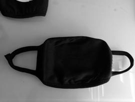 Herbruikbare wasbare zwarte katoenen  mondkap mondkapje mondmasker masker mondmaskers mondkapjes mondkaps mouth mask masks