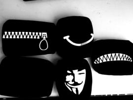 Herbruikbare wasbare zwarte katoenen opdruk print mondkap mondkapje mondmasker masker mondmaskers mondkapjes mondkaps mouth mask masks