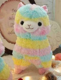 Regenboog rainbow Alpaca Alpacasso Lama Schaap knuffel plush 35 cm