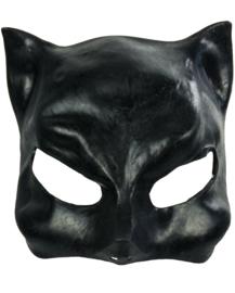 Black cat eye mask catwoman half masker cosplay horror