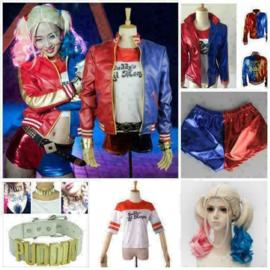 suicide squad harley quinn Kleding pruik set cosplay