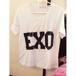 Kpop EXO shirt tshirt T-shirt topje witte tops kpop Korea