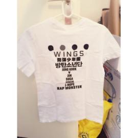 Bangtan boys BTS Wings witte T-shirt tshirt shirt topje kpop