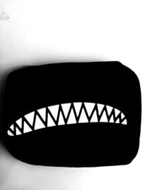 Herbruikbare wasbare zwarte katoenen tanden tand gothic mondkap mondkapje mondmasker masker mondmaskers mondkapjes mondkaps mouth mask masks