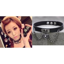 kpop Choker halsketting met hart Korea korean Gothic punk