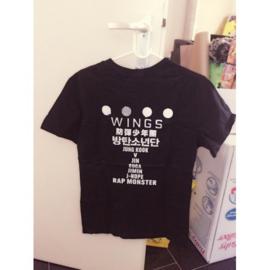 Kpop T-shirt shirt tshirt topje zwart bangtan boys BTS Wings