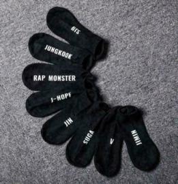 BTS Kpop sokken socks sok zwart