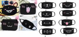 leuke zwarte Herbruikbare wasbare katoenen print opdruk zwarte mondkap mondkapje mondmasker masker mondkapjes mondmaskers mondkapjes mondkaps