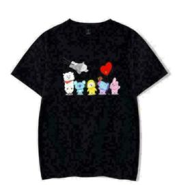 BTS BT21 T-shirt shirt topje tops kleding Kpop Korea