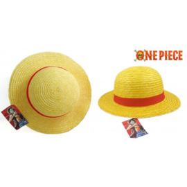 One piece luffy hoed cosplay manga anime geel rood