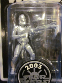 Star Wars Silver 2003 Clone Trooper Figure
