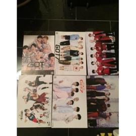 got7 GOT 7 posters poster kpop Korea G set
