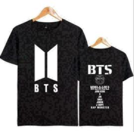 Bangtan Boys BTS Zwarte T-shirt Shirt Kleding Topje Kpop