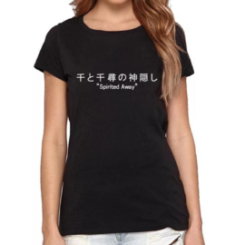 Spirited Away anime manga t-shirt shirt topje tops zwart