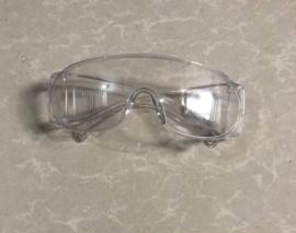 Beschermende Goggles Anti Fog Veiligheidsbril Anti Stof bril Spittle Oogbescherming Bril Veiligheid Werk Bril Over Spectacles Zachte Wraparound Oogkleding Impact Schokbestendig Voor Medische Bouw Lab Chemische Heldere bril