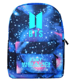 Galaxy kleur  BTS BT21 rugtas schooltas tas schouder tastassen  Backpack Black