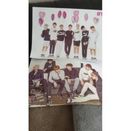 BTS posters poster kpop poster Korea bangtan boys H set