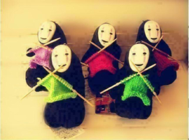 Spirited Away No-Face Knuffels Pluche Sleutelhangers