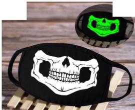 GLOW IN DARK Skelet Skull Biker Hell mondkapje mondkapjes mondmasker mondmaskers volwassen en kindermaten