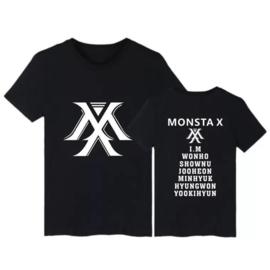 Kpop Monsta X t-shirt shirt topjes tops kleding Korea