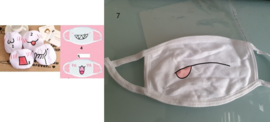 volwassenen en kindermaat kinderen Witte Mondkapjes mondkap mondmasker mondmaskers mondkapjes mondkaps opdruk print Dust Stoppers