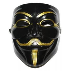Zwart goud anonymous hacker masker
