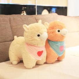 Alpacasso alpaca lama schaap knuffel pluche met sjaal plush