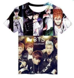 Witte BTS t shrit shirt topje tops kleding Kpop muziek Korea