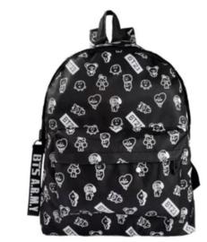 BTS BT21 rugtas schooltas tas schouder tastassen zwart Backpack Black